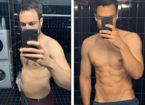 damian-before-and-after-vegan-fitness